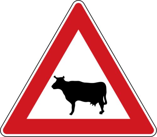Dopravní značka: A 13 Zvířata