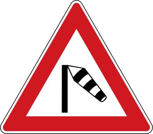 Dopravní značka: A 16 Boční vítr