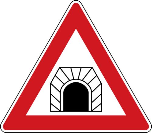 Dopravní značka: A 21 Tunel