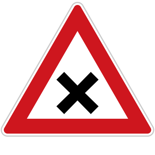 Dopravní značka: A 3 Křižovatka