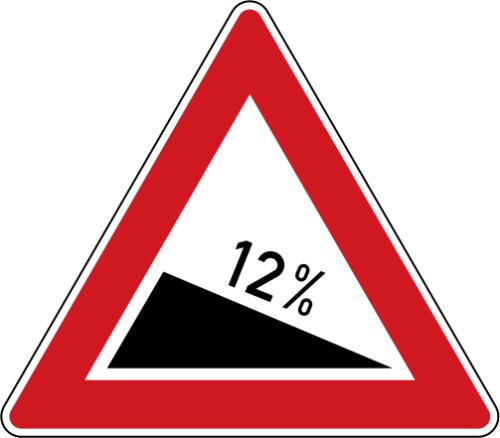 Dopravní značka: A 5a Nebezpečné klesání