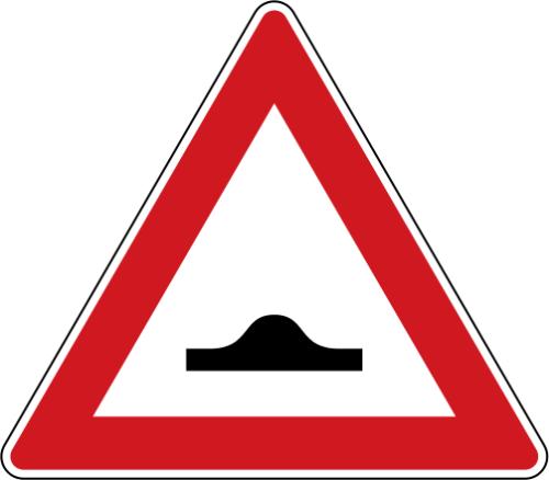 Dopravní značka: A 7b Zpomalovací práh