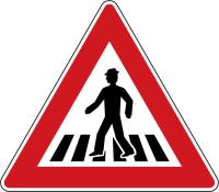 Dopravní značka: A 11 Přechod pro chodce
