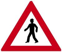 Dopravní značka: A 12a Chodci