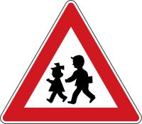 Dopravní značka: A 12b Děti