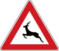 Dopravní značka: A 14 Zvěř