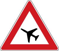 Dopravní značka: A 20 Letadla