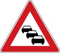 Dopravní značka: A 23 Kolona