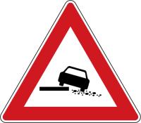 Dopravní značka: A 28 Nebezpečná krajnice