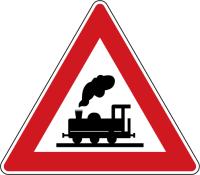 Dopravní značka: A 30 Železniční přejezd bez závor