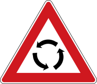 Dopravní značka: A 4 Křižovatka s kruhovým objezdem