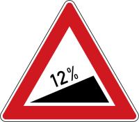 Dopravní značka: A 5b Nebezpečné stoupání