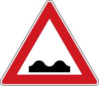 Dopravní značka: A 7a Nerovnost vozovky
