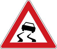 Dopravní značka: A 8 Nebezpečí smyku