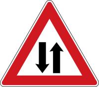 Dopravní značka: A 9 Provoz v obou směrech