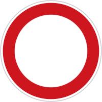 Dopravní značka: B 1 Zákaz vjezdu všech vozidel (v obou směrech)