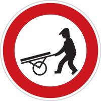 Dopravní značka: B 10 Zákaz vjezdu ručních vozíků