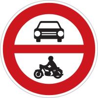 Dopravní značka: B 11 Zákaz vjezdu všech motorových vozidel