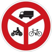 Dopravní značka: B 12 Zákaz vjezdu vyznačených vozidel