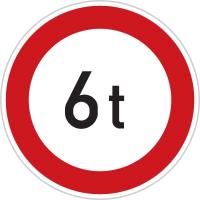 Dopravní značka: B 13 Zákaz vjezdu vozidel, jejichž okamžitá hmotnost přesahuje vyznačenou mez