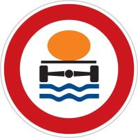 Dopravní značka: B 19 Zákaz vjezdu vozidel přepravujících náklad, který může způsobit ohrožení životního prostředí