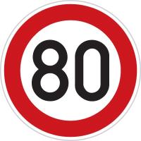 Dopravní značka: B 20a Nejvyšší dovolená rychlost