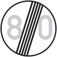 Dopravní značka: B 20b Konec Konec nejvyšší dovolené rychlosti