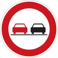 Dopravní značka: B 21a Zákaz předjíždění