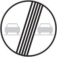 Dopravní značka: B 21b Konec zákazu předjíždění
