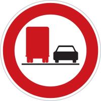 Dopravní značka: B 22a Zákaz předjíždění pro nákladní automobily