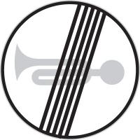 Dopravní značka: B 23b Konec zákazu zvukových výstražných znamení