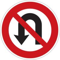 Dopravní značka: B 25 Zákaz otáčení