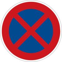 Dopravní značka: B 28 Zákaz zastavení