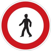 Dopravní značka: B 30 Zákaz vstupu chodců