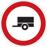 Dopravní značka: B 33 Zákaz vjezdu motorových vozidel s přípojným vozidlem