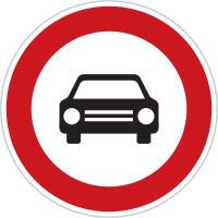 Dopravní značka: B 3a Zákaz vjezdu všech motorových vozidel s výjimkou motocyklů bez postranního vozíku