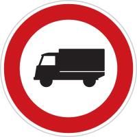 Dopravní značka: B 4 Zákaz vjezdu nákladních automobilů