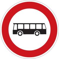 Dopravní značka: B 5 Zákaz vjezdu autobusů