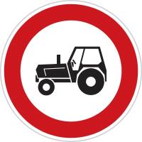 Dopravní značka: B 6 Zákaz vjezdu traktorů