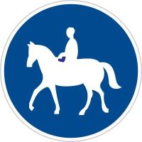 Dopravní značka: C 11a Stezka pro jezdce na zvířeti