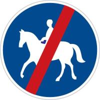 Dopravní značka: C 11b Konec stezky pro jezdce na zvířeti