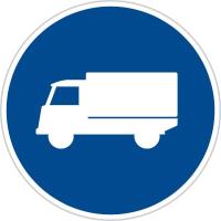Dopravní značka: C 12a Přikázaný jízdní pruh