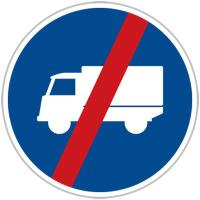 Dopravní značka: C 12b Konec přikázaného jízdního pruhu