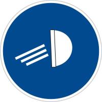 Dopravní značka: C 13a Rozsviť světla