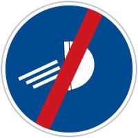 Dopravní značka: C 13b Rozsviť světla – konec