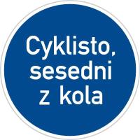 Dopravní značka: C 14a Jiný příkaz