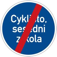 Dopravní značka: C 14b Konec jiného příkazu