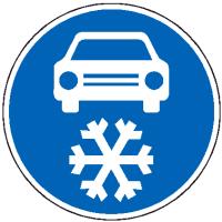Dopravní značka: C 15a Zimní výbava