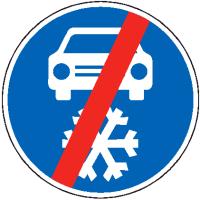 Dopravní značka: C 15b Zimní výbava – konec