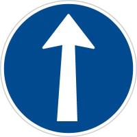 Dopravní značka: C 2a Přikázaný směr jízdy přímo